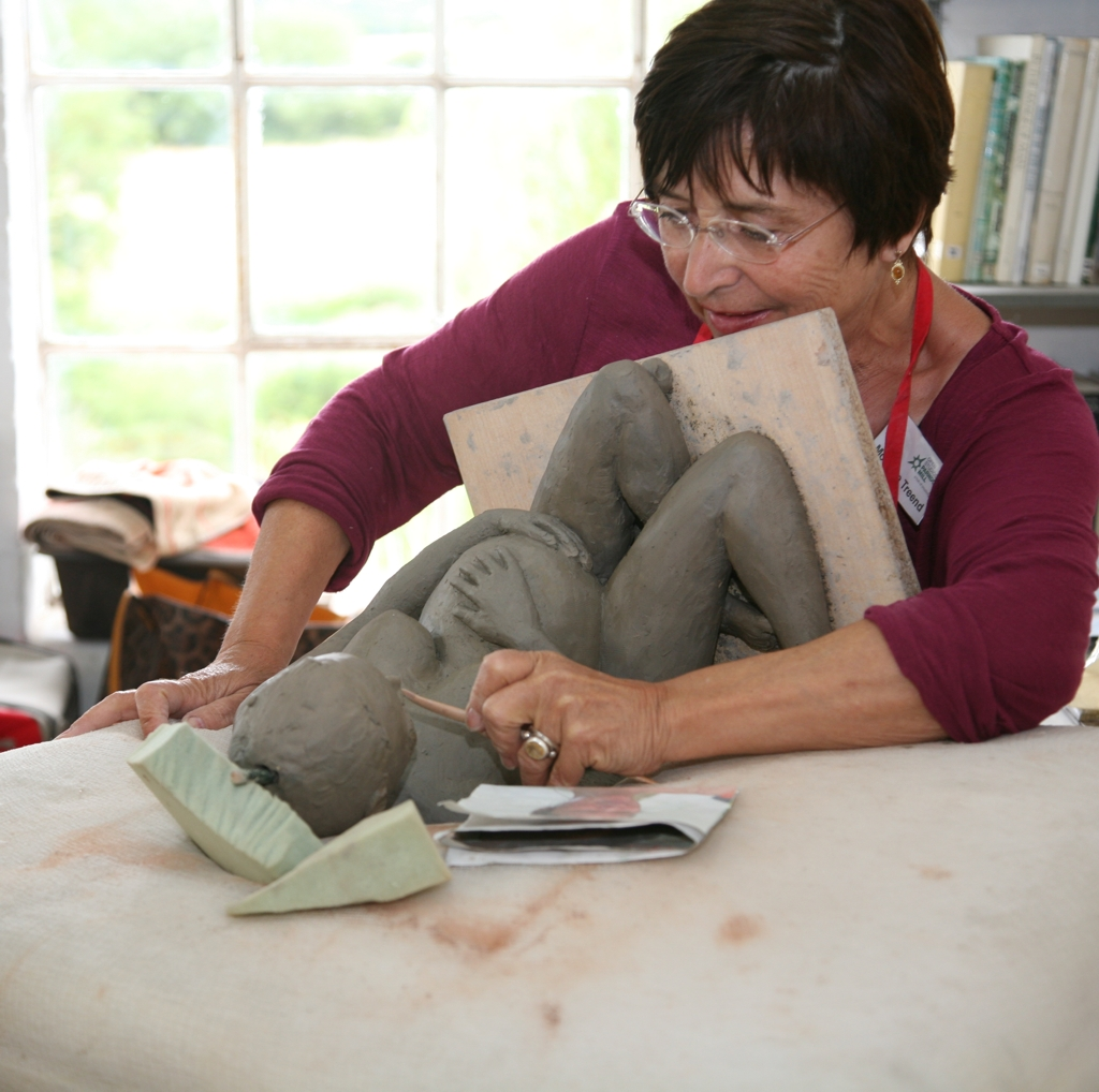 Clay figure sculpting class