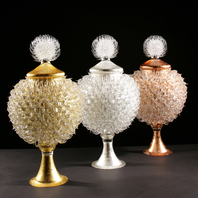 Glass vessels by James Lethbridge glass artist