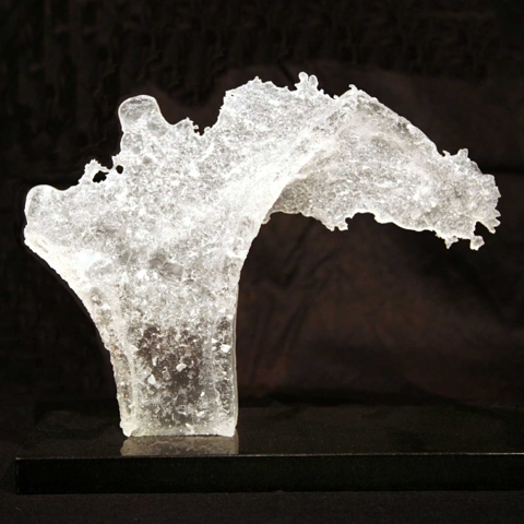 Karen Murphy cast glass water sculpture