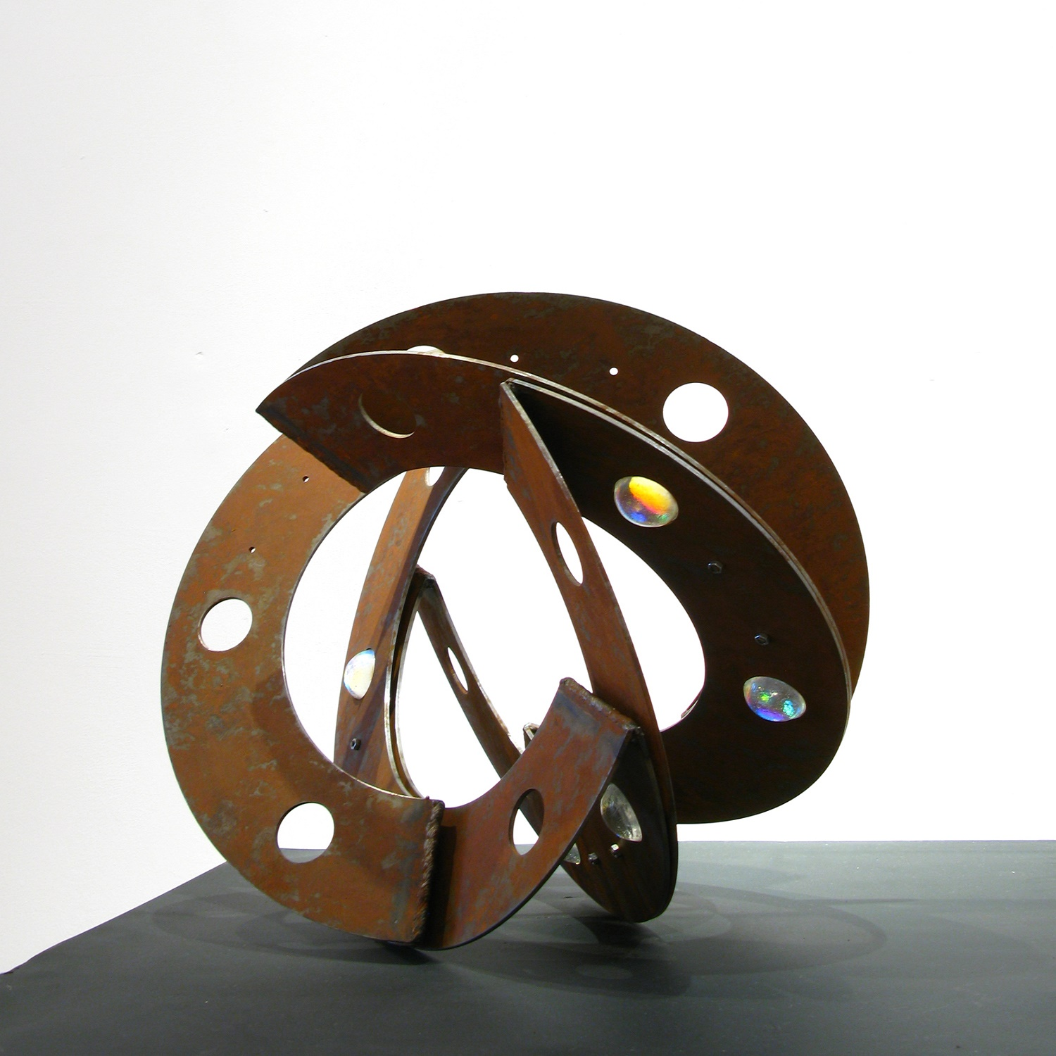 Yuki Kokai glass and metal sculpture