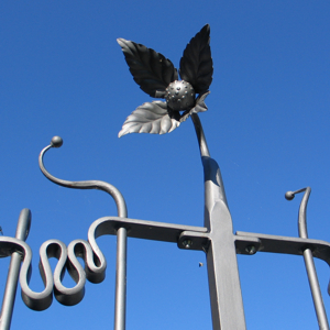 Alan Freeman metal flower sculpture