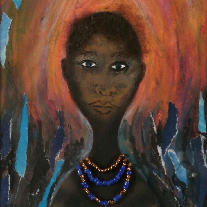 Sue Wagstaff tribeswoman painting